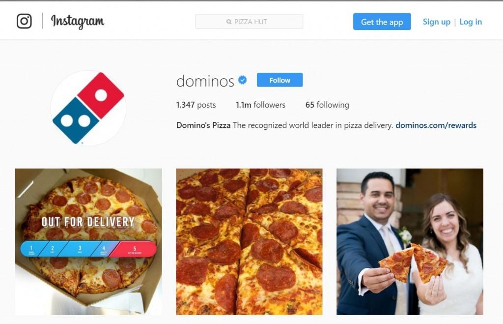 INSTAGRAM DOMINOS PIZZA